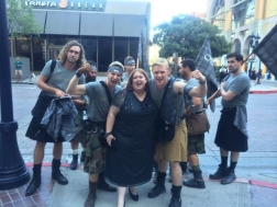 Me and the kilted ones!