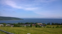View across the Bras d'Or to Jamestown