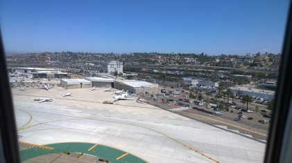 Coming into SAN airport
