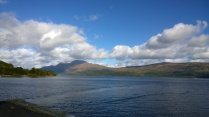 View over Loch Lomond to Ben Lomond