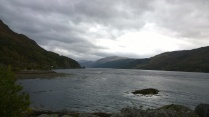 View down Loch Duich