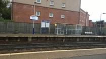 Crossmyloof Train Station literally next door to Susan's flat!