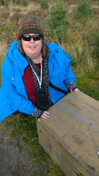 Me with the marker for the Clan Fraser in the Jacobite line.