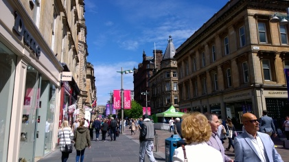 Beautiful day on Buchanan St.